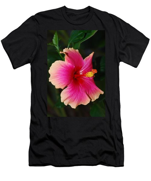 Rise And Shine - Hibiscus Face Men's T-Shirt (Slim Fit) by Connie Fox
