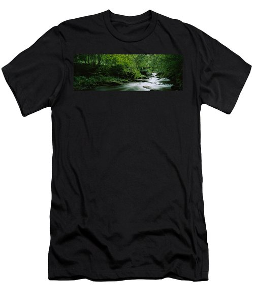 River Flowing In The Forest, Aberfeldy Men's T-Shirt (Athletic Fit)