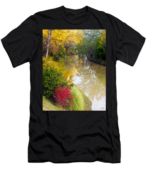 River With Autumn Colors Men's T-Shirt (Athletic Fit)