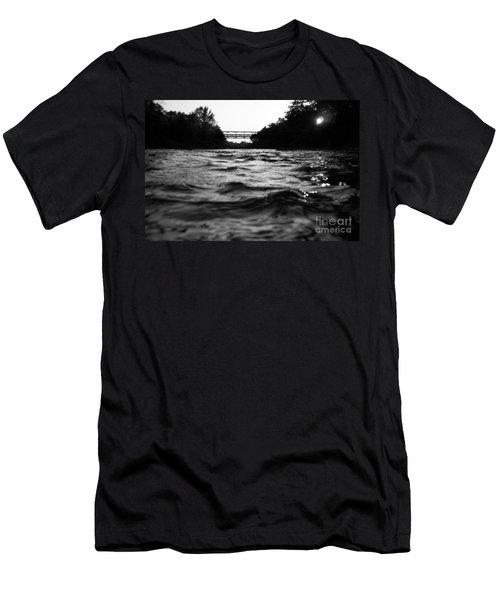 Men's T-Shirt (Slim Fit) featuring the photograph Rivers Edge by Michael Krek