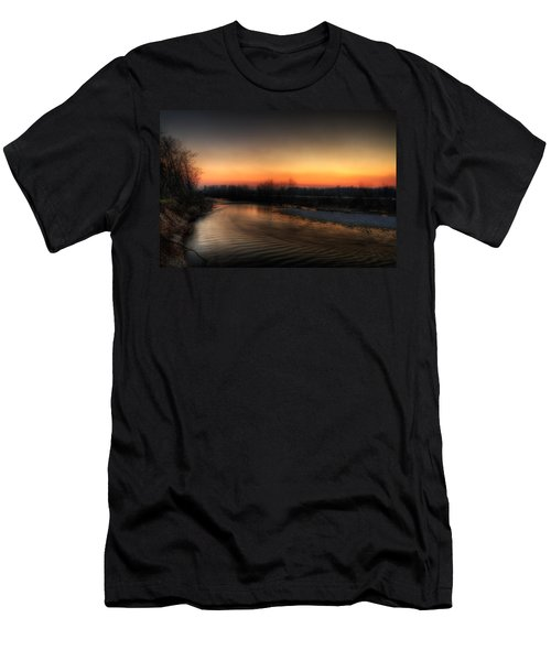 Riverscape At Sunset Men's T-Shirt (Athletic Fit)
