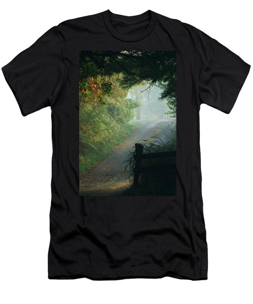 Road Goes On Men's T-Shirt (Slim Fit) by Michael McGowan