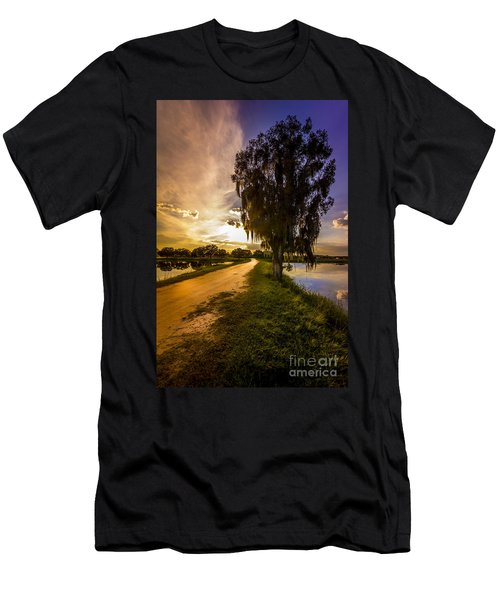 Road Into The Light Men's T-Shirt (Athletic Fit)