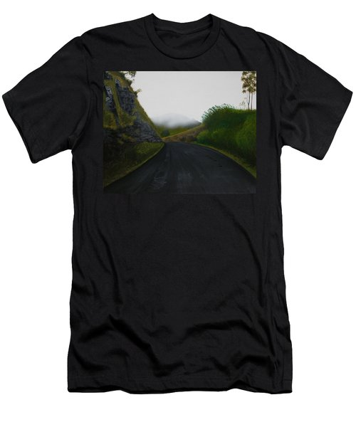 Men's T-Shirt (Slim Fit) featuring the painting Road Near Gresford Nsw by Tim Mullaney