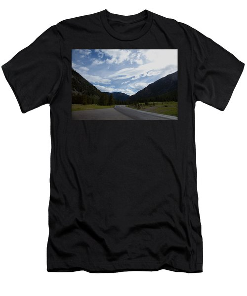 Road Through The Mountains Men's T-Shirt (Athletic Fit)