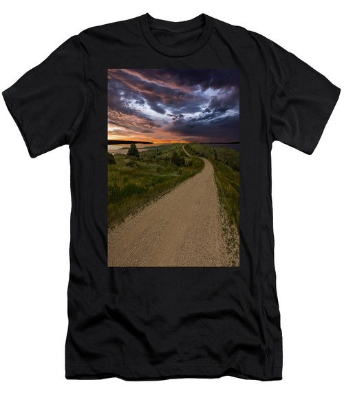 Road To Nowhere - Stormy Little Bend Men's T-Shirt (Athletic Fit)