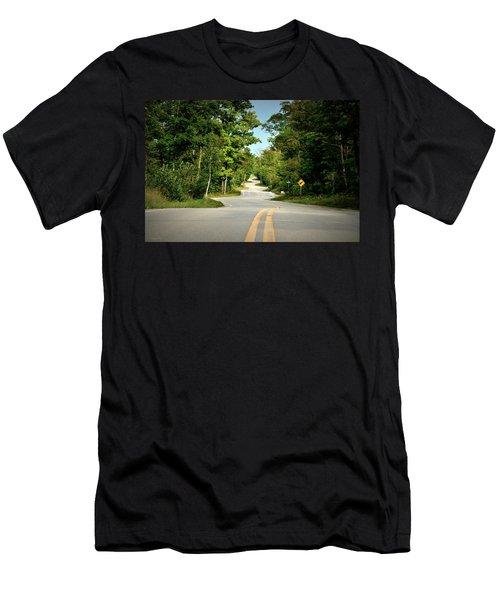 Roadway Slalom Men's T-Shirt (Athletic Fit)