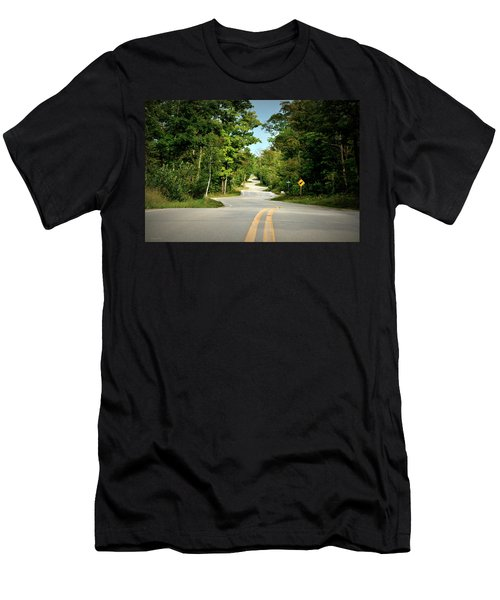 Roadway Slalom Men's T-Shirt (Athletic Fit)