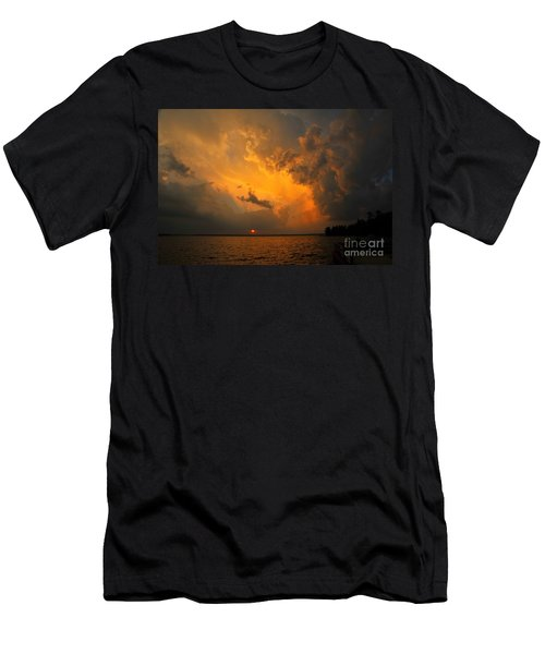 Men's T-Shirt (Slim Fit) featuring the photograph Roar Of The Heavens by Terri Gostola