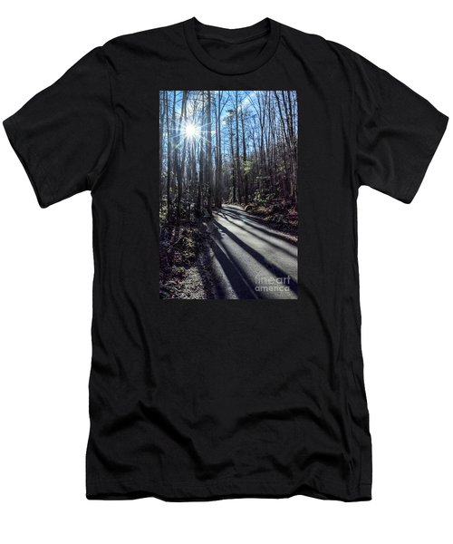 Men's T-Shirt (Slim Fit) featuring the photograph Roaring Fork Road by Debbie Green