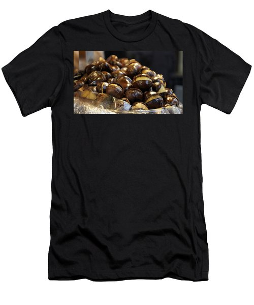 Men's T-Shirt (Slim Fit) featuring the photograph Roasted Chestnuts by Lilliana Mendez