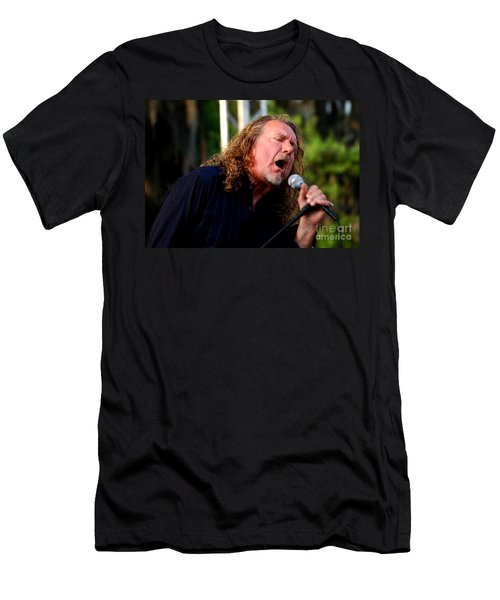 Robert Plant 2 Men's T-Shirt (Slim Fit) by Angela Murray