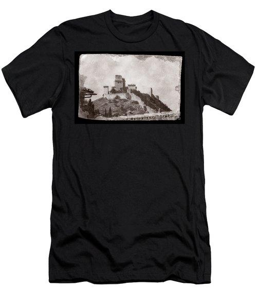 Rocca Maggiore Castle Men's T-Shirt (Athletic Fit)