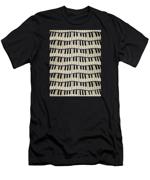 Rock And Roll Piano Keys Men's T-Shirt (Athletic Fit)