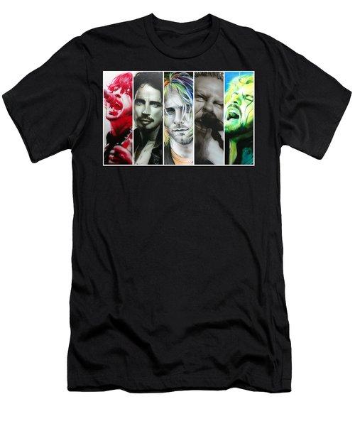 Rock Montage I Men's T-Shirt (Athletic Fit)