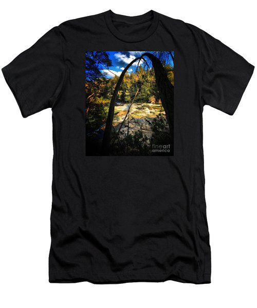 Rock Slide Men's T-Shirt (Slim Fit) by Robert McCubbin