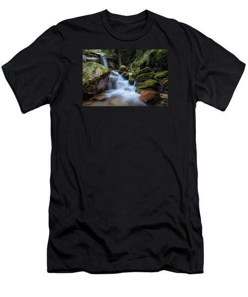 Men's T-Shirt (Slim Fit) featuring the photograph Rock To Rock Down by Edgar Laureano