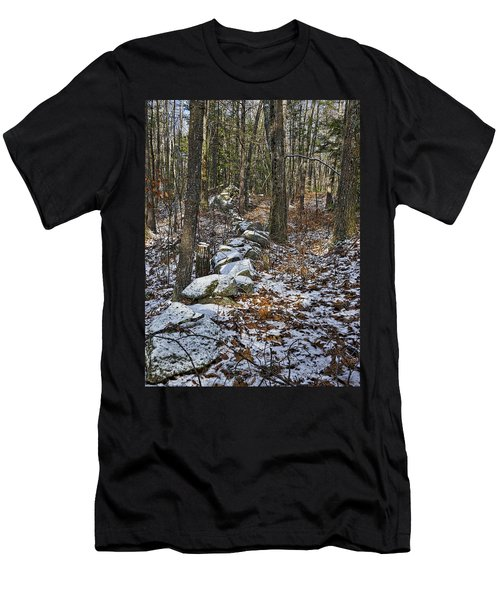 Rock Wall - Maine Men's T-Shirt (Athletic Fit)