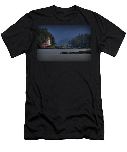 Rockwell Lighthouse Sitka Alaska Men's T-Shirt (Athletic Fit)