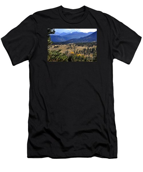 Men's T-Shirt (Slim Fit) featuring the photograph Rocky Mountain Evening by Nava Thompson