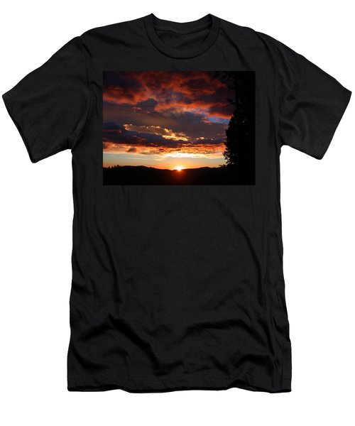 Rocky Mountain Sunset Men's T-Shirt (Athletic Fit)