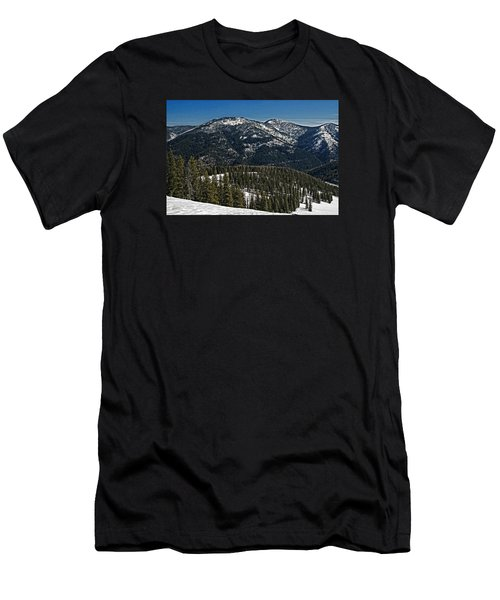Rocky Mountain Top Men's T-Shirt (Slim Fit) by Andy Crawford