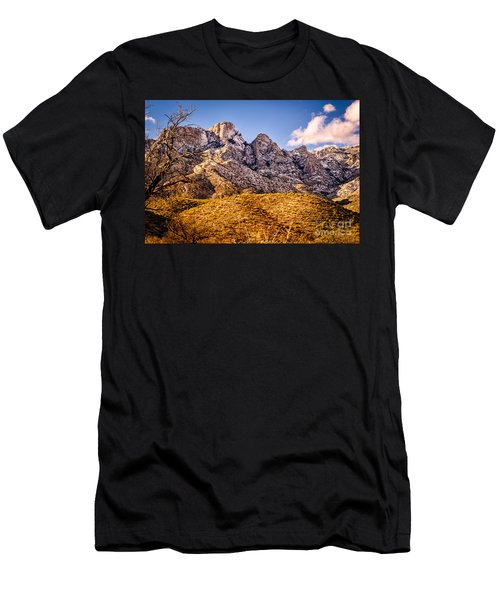 Men's T-Shirt (Slim Fit) featuring the photograph Rocky Peaks by Mark Myhaver