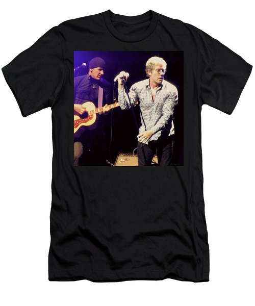 Roger Daltrey And The Who Men's T-Shirt (Slim Fit) by Melinda Saminski