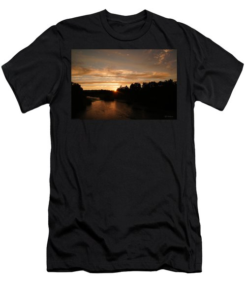 Rogue August Sunset Men's T-Shirt (Slim Fit) by Mick Anderson