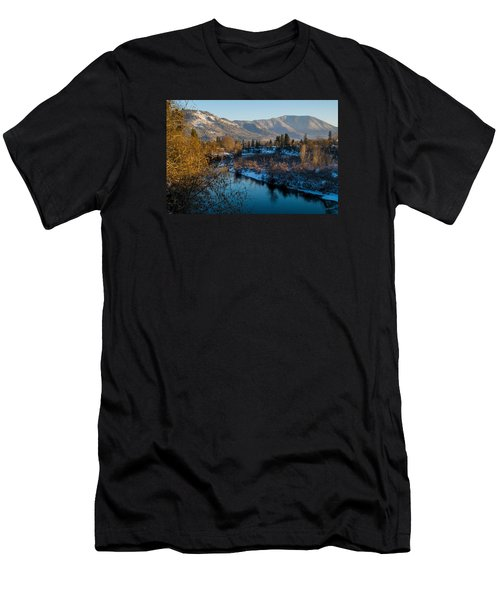 Rogue River Winter Men's T-Shirt (Slim Fit) by Mick Anderson