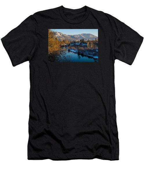 Rogue River Winter Men's T-Shirt (Athletic Fit)