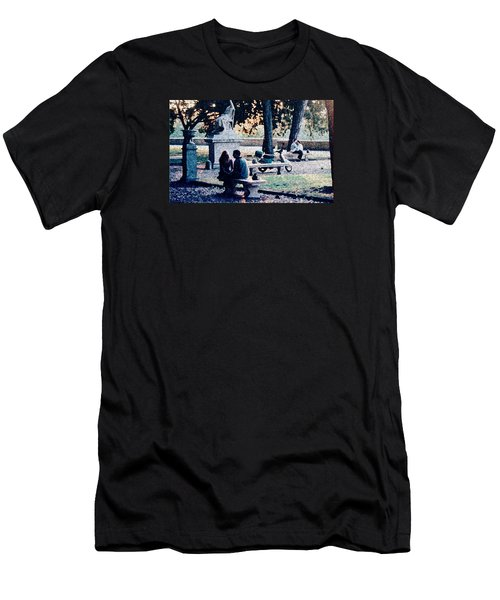 Men's T-Shirt (Slim Fit) featuring the photograph Roman Romance Tivoli Gardens by Tom Wurl