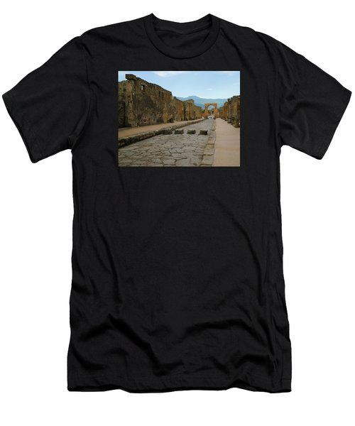 Roman Street In Pompeii Men's T-Shirt (Athletic Fit)