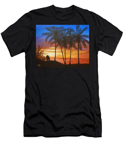 Romance In Paradise Men's T-Shirt (Athletic Fit)
