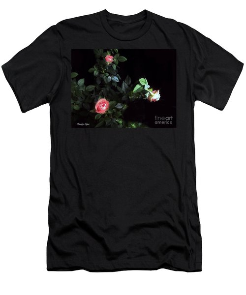 Romance Of The Roses Men's T-Shirt (Slim Fit) by Becky Lupe