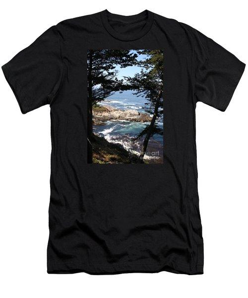 Romantic California Coast Men's T-Shirt (Slim Fit) by Christiane Schulze Art And Photography