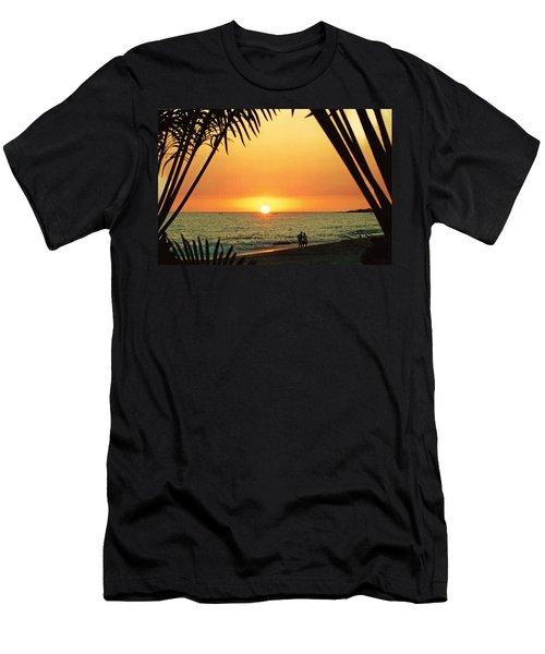 Romantic Sunset Men's T-Shirt (Athletic Fit)