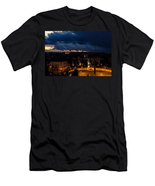 Rome Cityscape At Night  Men's T-Shirt (Athletic Fit)