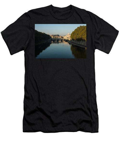 Men's T-Shirt (Slim Fit) featuring the photograph Rome Waking Up by Georgia Mizuleva