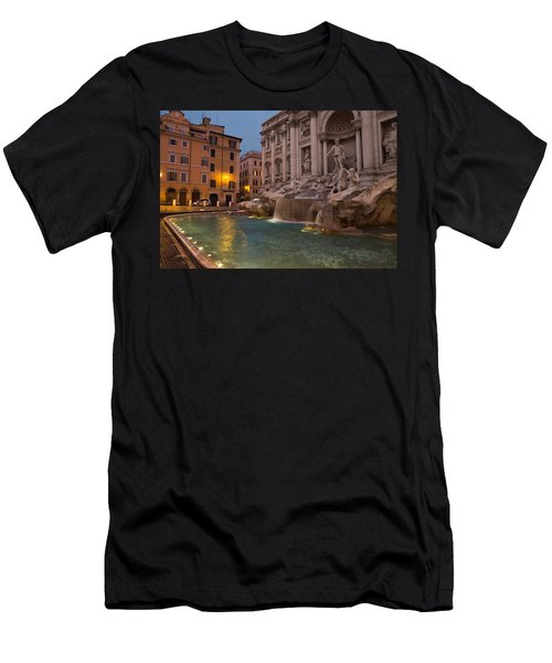 Rome's Fabulous Fountains - Trevi Fountain At Dawn Men's T-Shirt (Athletic Fit)