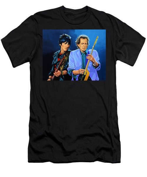 Ron Wood And Keith Richards Men's T-Shirt (Athletic Fit)