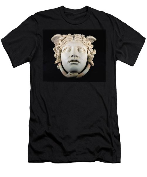 Rondanini Medusa, Copy Of A 5th Century Bc Greek Marble Original, Roman Plaster Men's T-Shirt (Athletic Fit)