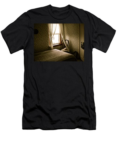 Men's T-Shirt (Slim Fit) featuring the photograph Room301 Irish Inn by Joan Reese