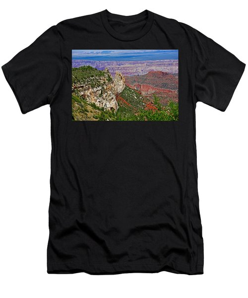Roosevelt Point Two On North Rim/grand Canyon National Park-arizona   Men's T-Shirt (Slim Fit) by Ruth Hager