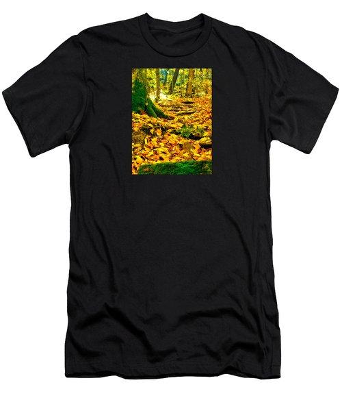 Root Steps Men's T-Shirt (Athletic Fit)