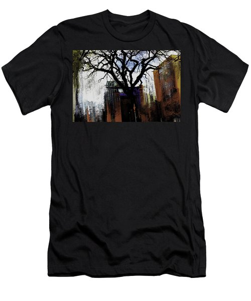 Men's T-Shirt (Slim Fit) featuring the mixed media Rooted In The Unstable by Terence Morrissey