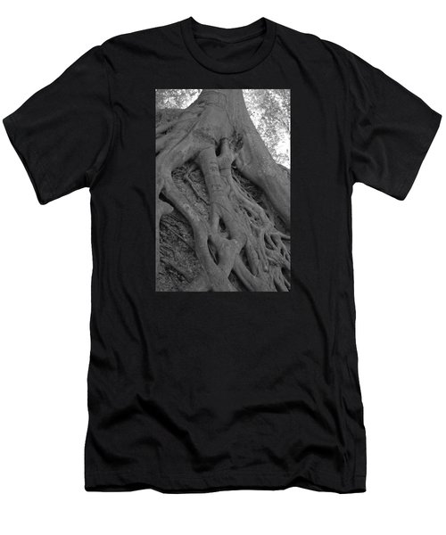 Roots II Men's T-Shirt (Slim Fit) by Suzanne Gaff