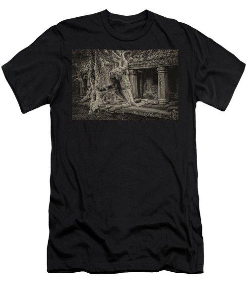 Roots In Ruins 7, Ta Prohm, 2014 Men's T-Shirt (Slim Fit) by Hitendra SINKAR