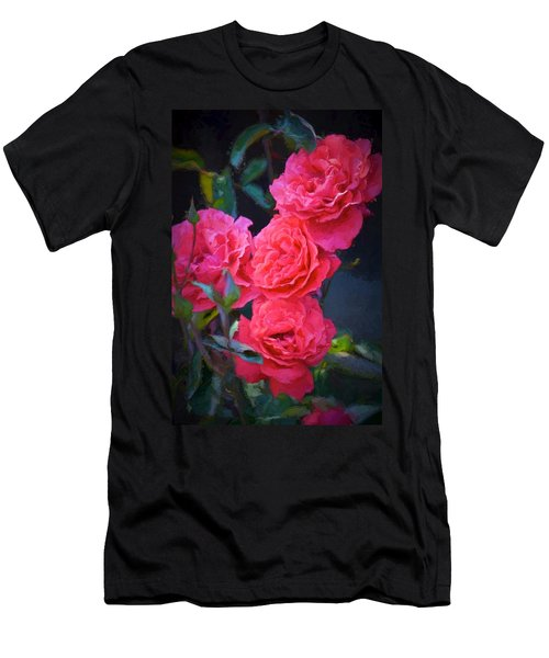 Rose 138 Men's T-Shirt (Slim Fit) by Pamela Cooper
