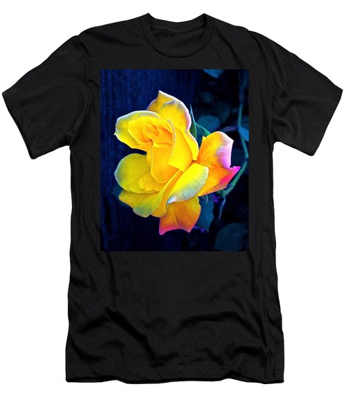 Men's T-Shirt (Slim Fit) featuring the photograph Rose 4 by Pamela Cooper